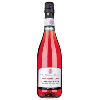 Vinho-Lambrusco-Dell-Emilia-Italiano-Tramontino-Rosato-Secco-VinhoSite.com.br