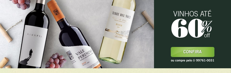Julho: Vinhos Até 60%